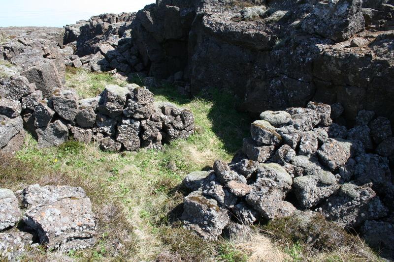 Hleðsla í Arnarbælisgjá
