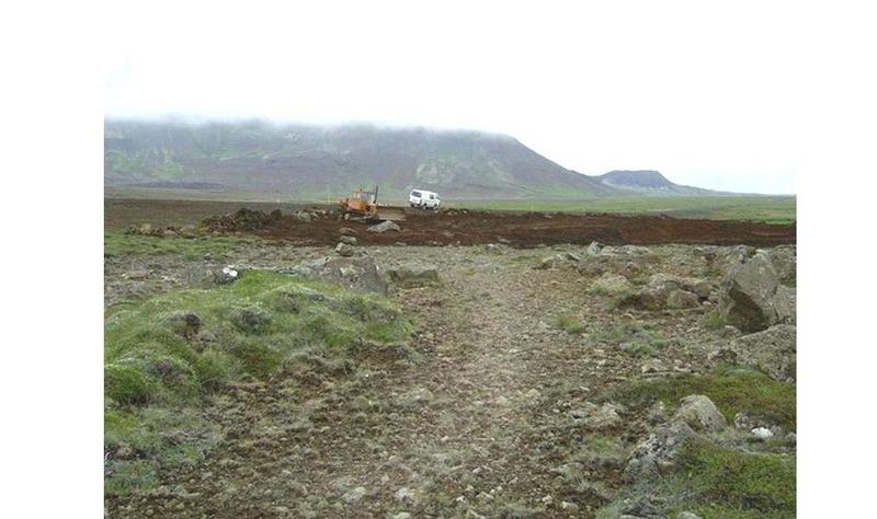 Gamla þjóðleiðin og planið við Arnarfell