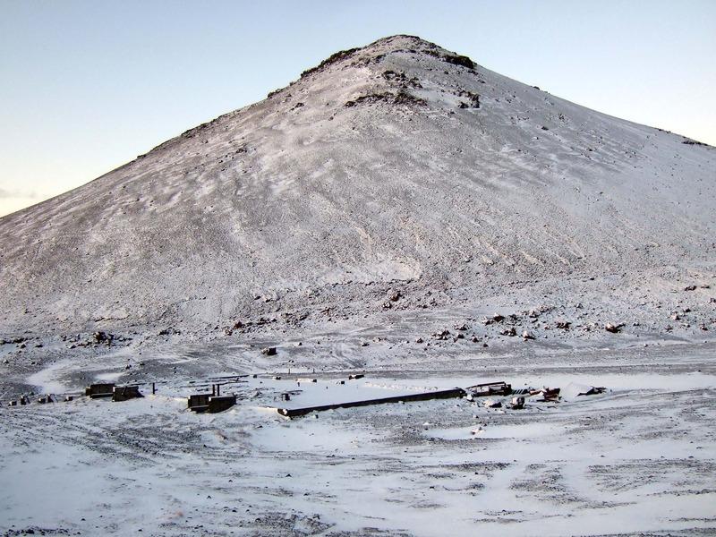 Leifar fjarskiptastöðvarinnar, tæpri hálfri öld síðar