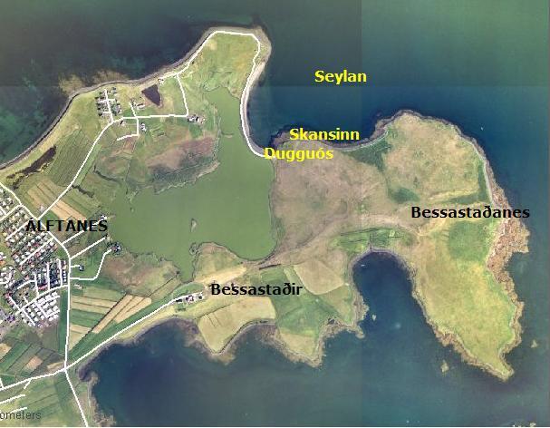 Bessastaðanes- loftmynd