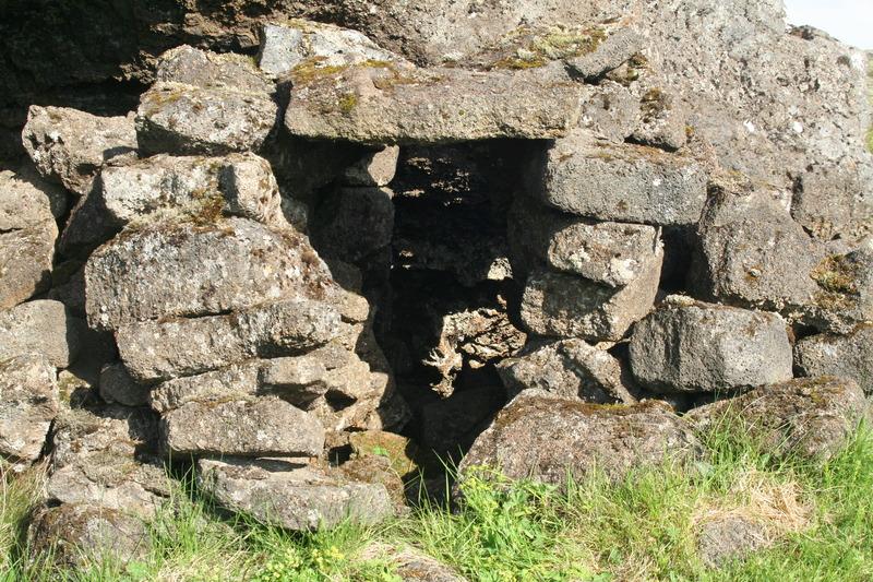 Mannvistarleifar í norðanverðri Búrfellsgjá
