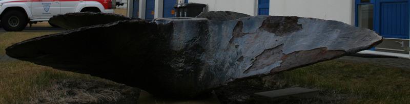 Skúfa Cap Fagnet við aðalstöðvar bjsv. Þorbjörns í Grindavík