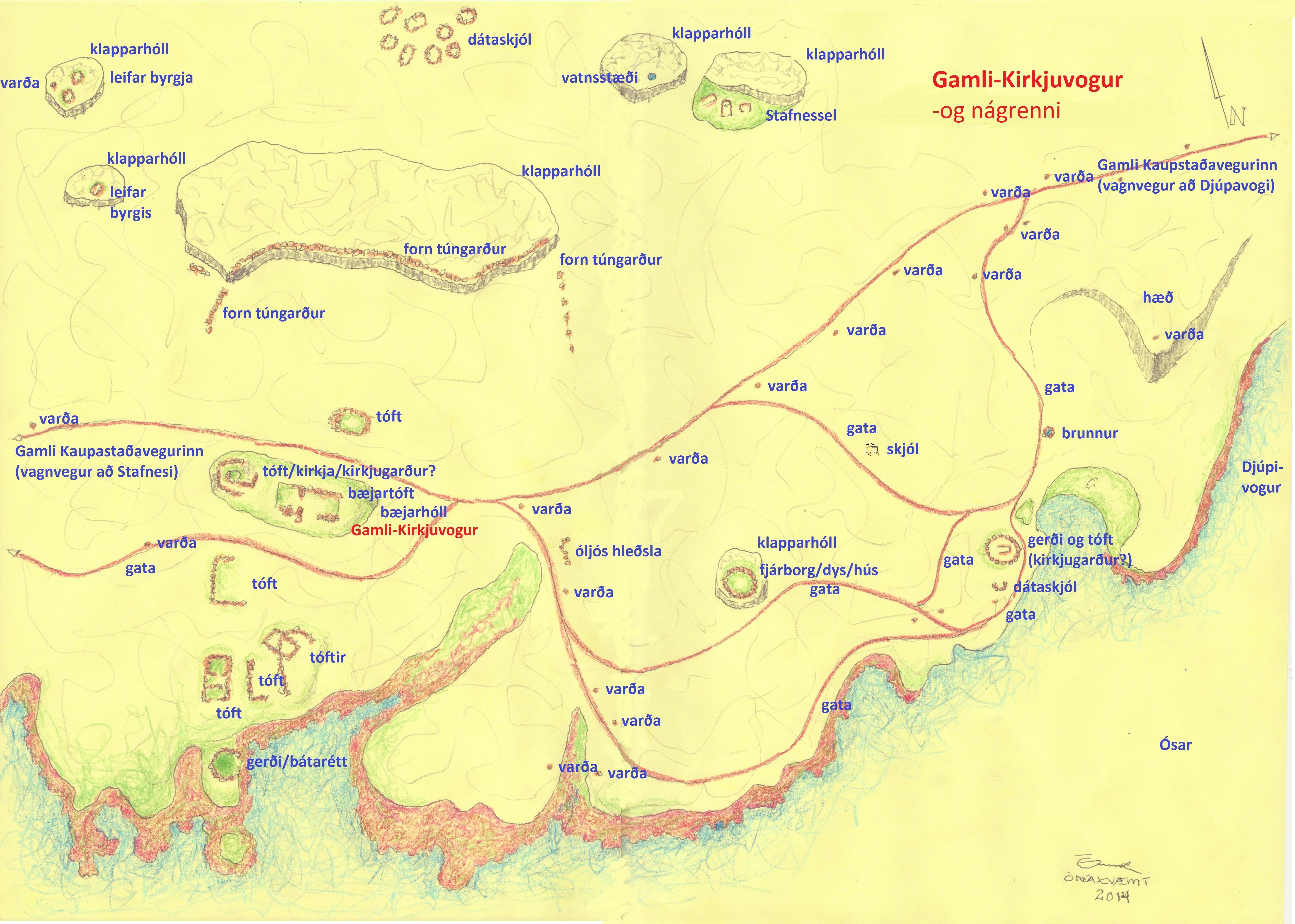 Gamli-Kirkjuvogur-uppdrattur 2014
