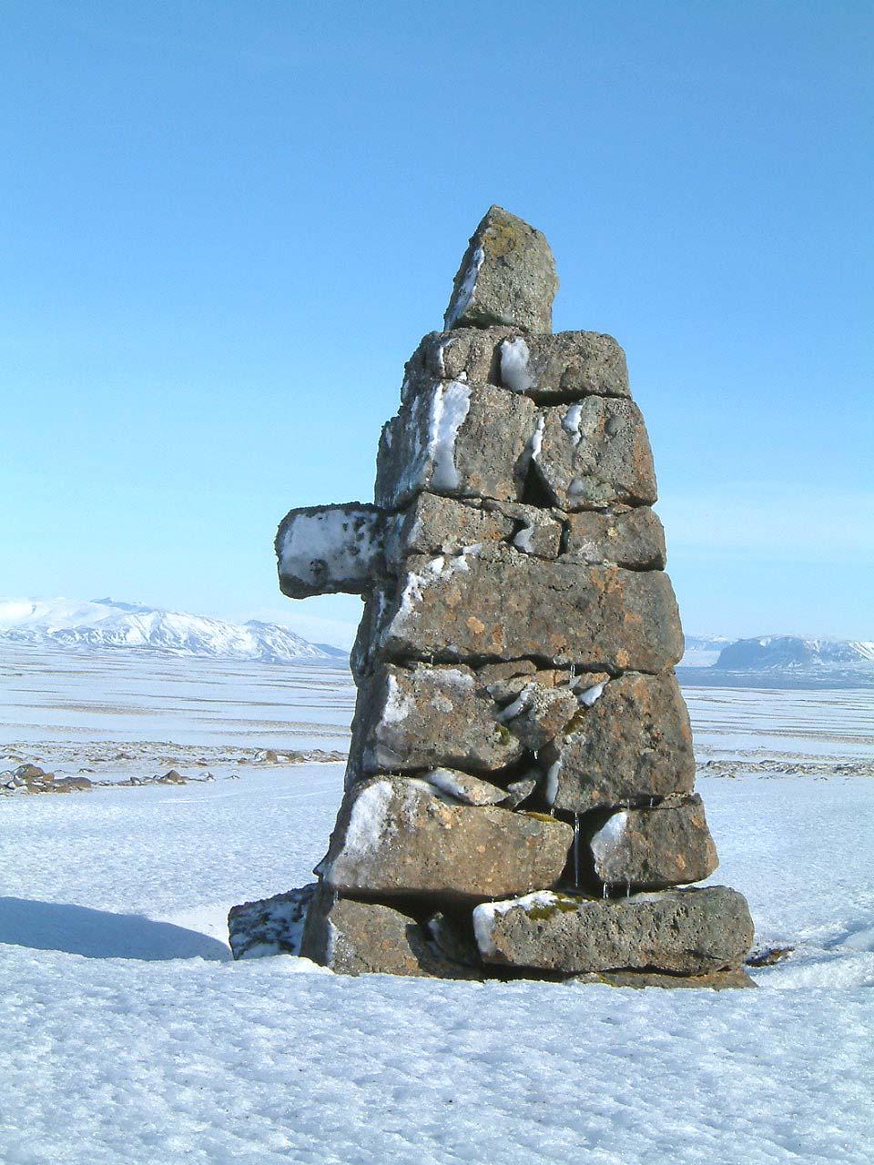 Nefvarða við Gamla Þingvallaveginn