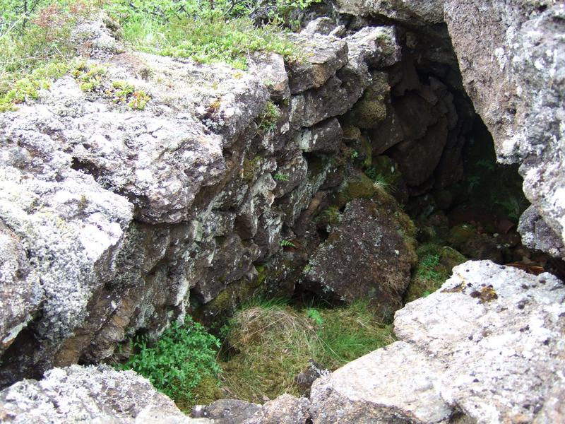 Inngangurinn í Gjáaskjólið