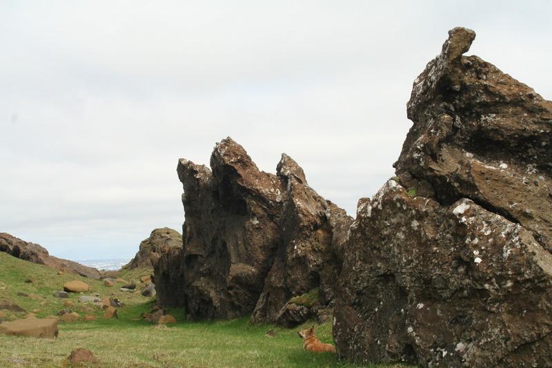 Bergmyndanir austan í Grænudyngju