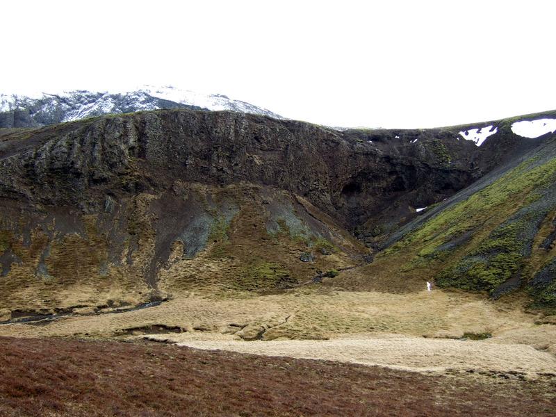Áhugaverður staður efst við Kaldá - Súlufell fjær