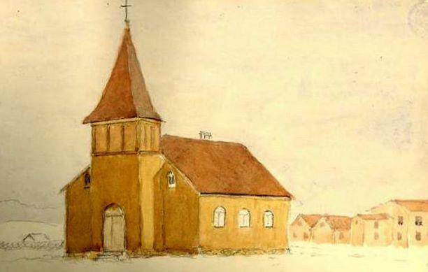 Grindavíkurkirkja um 1923