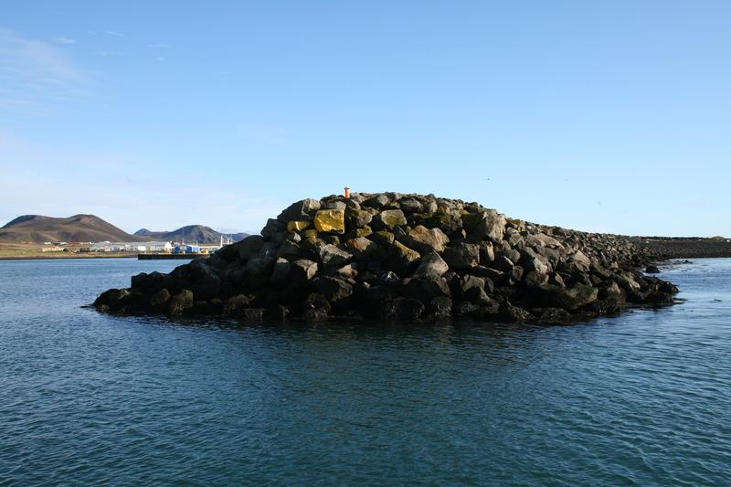 Einn sjóvarnargarðurinn