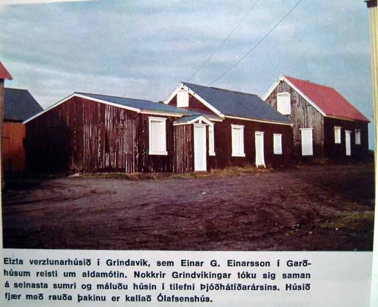 Einarsbúð (nú horfin) og Pakkhúsið