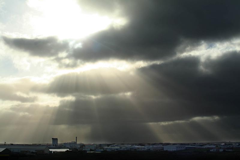 Sólstafir yfir Grindavík