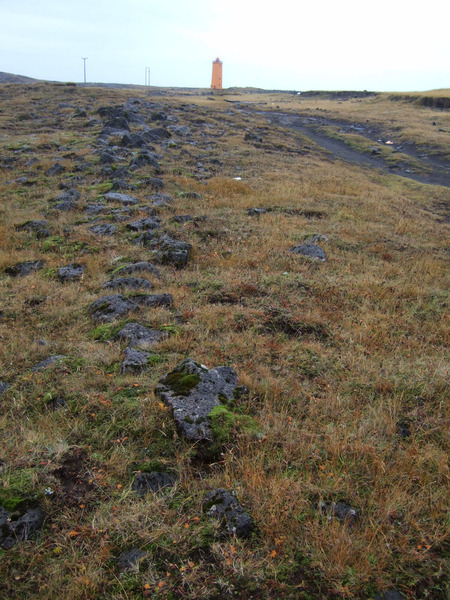 Fornigarður vestan Selvogsvita