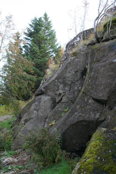 Hamarinn norðanverður - þarna sást hvítklædda konan