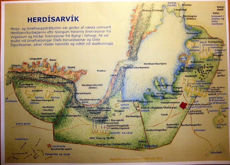 Herdísarvík - uppdráttur