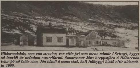 Hlíðarendi í Selvogi - myndin fylgdi greininni