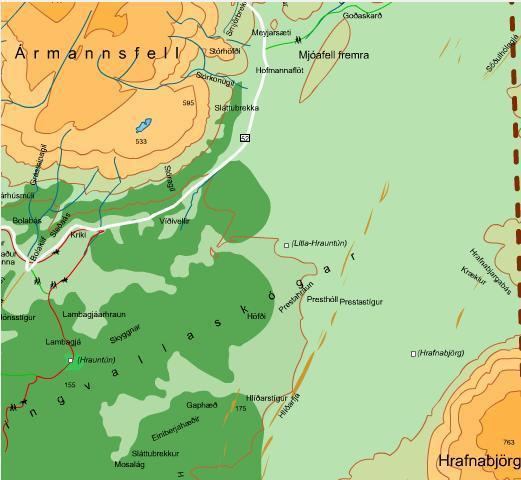 Kort Þingvallavefsins af göngusvæðinu