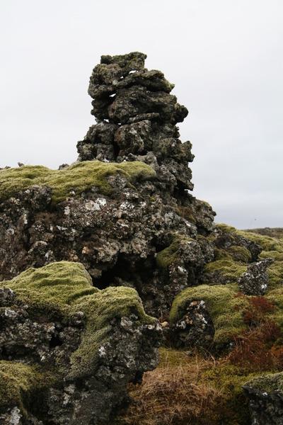 Fyrri tíma rask í hrauni á Reykjanesskaganum