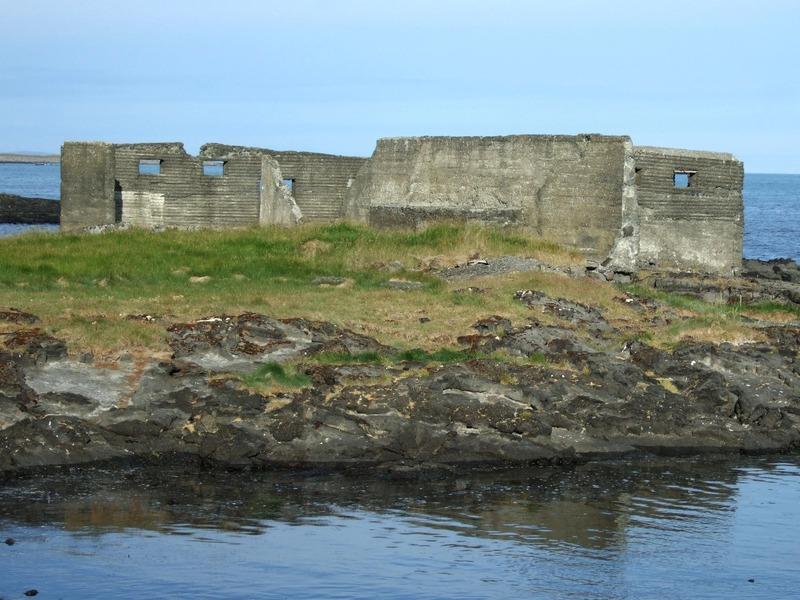 Leifar seinni tíma saltfisverkunnar á Kóngshellu