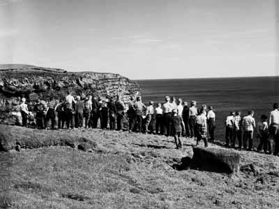 Vinnuskóladrengir á Heiðnabergi