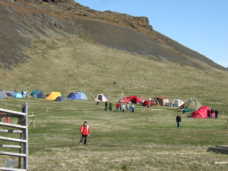 Vormót Hraunbúa í Krýsuvík - 2007. Guðni Gíslason í forgrunni