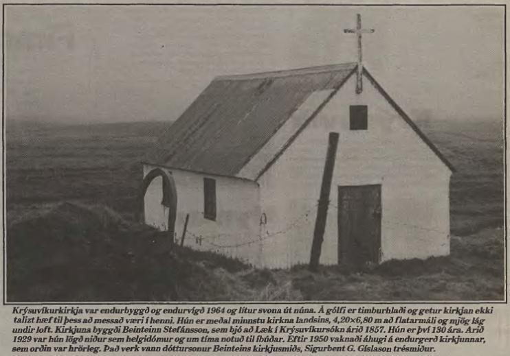Krýsuvíkurkirkja 1964