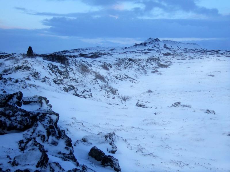 Misgengið í Helgadal - Búrfell fjær