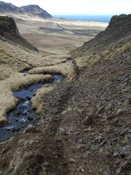 Tinnuskarð (Melaskarð) - Tíðarskarð fjær