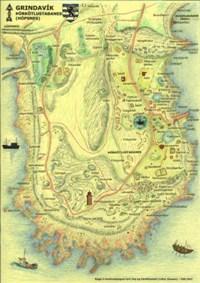 Þórkötlustaðanesviti - mörkin (rauð lína)