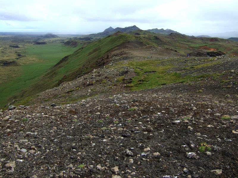 Horft norður eftir vestanverðum Núpshlíðarhálsi