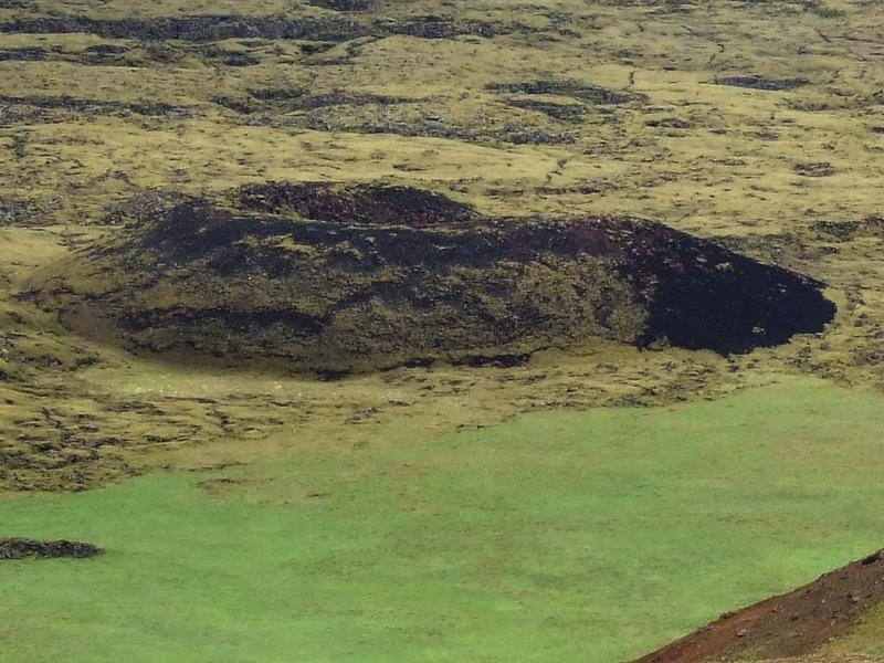 Gígur í gígaröð vestan við Núpshlíðarháls