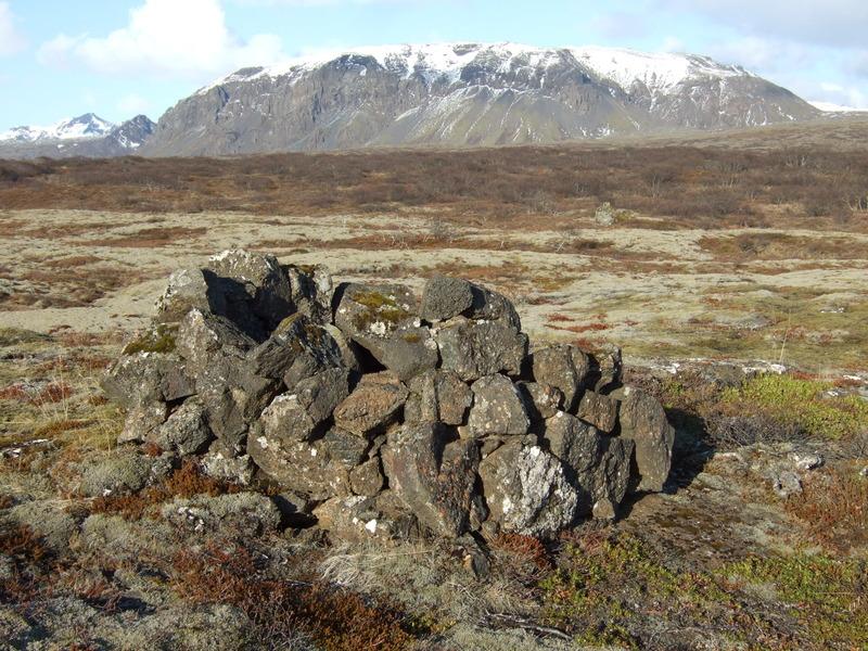 Byrgi refaskyttu í Þingvallahrauni