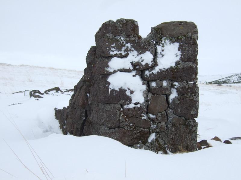 Hlaðinn garðhluti við Reynisvatn