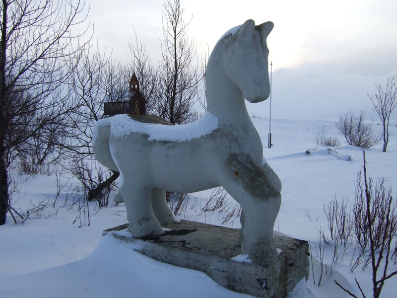 Hestur á Langavatnsheiði