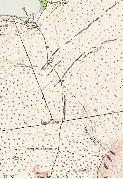 Sandakravegur - kort 1908