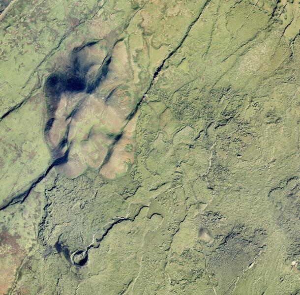 Loftmynd af Þórðarfelli