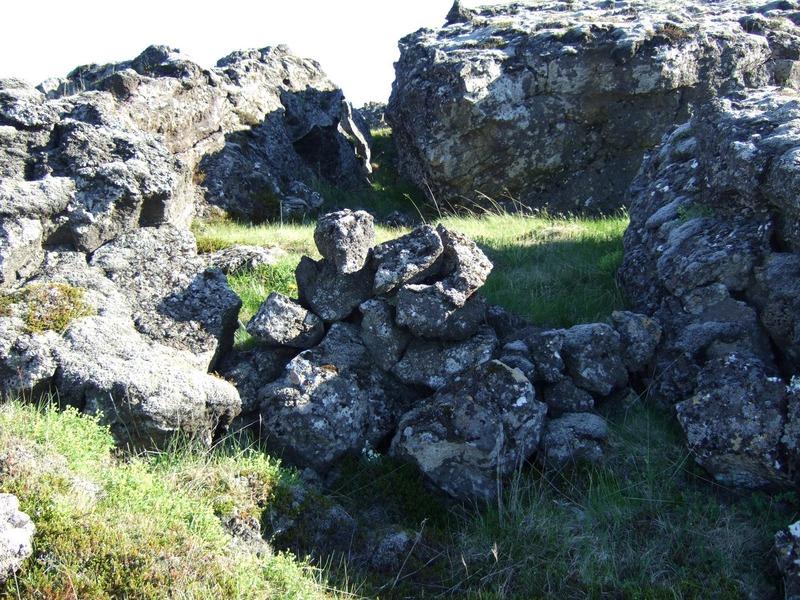 Hleðslur í Rauðamelsgjáarrétt
