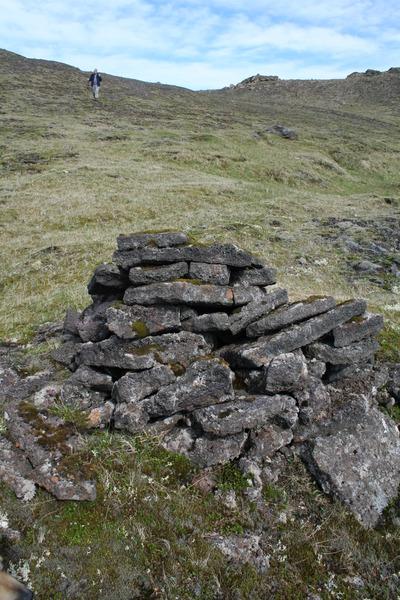 Dæmigert vörðubrot við Selvogsgötuna
