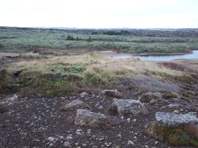 Beitarhústóft ofan við Silungapoll