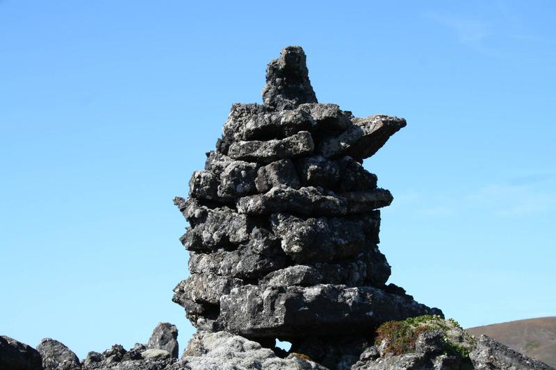 Varða við Skógfellaveg