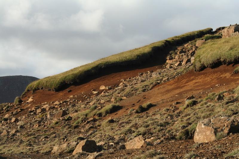 Rofabarð ofan við Höfðaháls - við Méltunnuklif