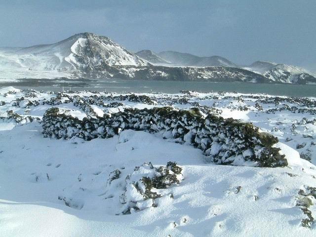 Þurrkgarðar í Slokahrauni við Grindavík