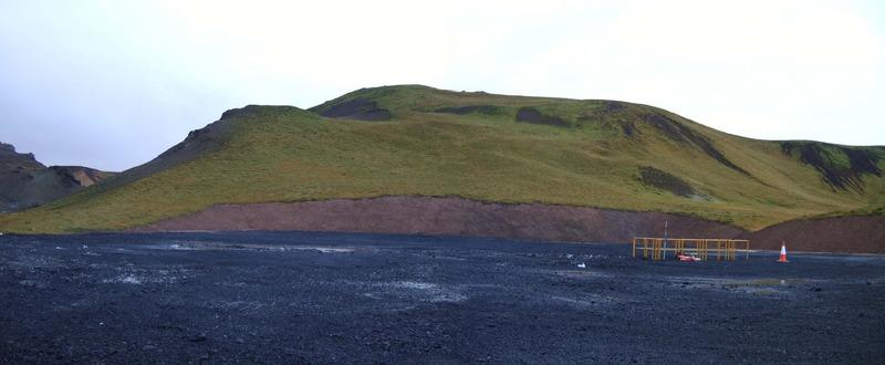 Eyðilegging við borsvæðið í Sogadal