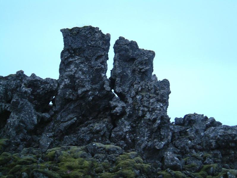 Strýtur í Kapelluhrauni við Stórhöfðastíg