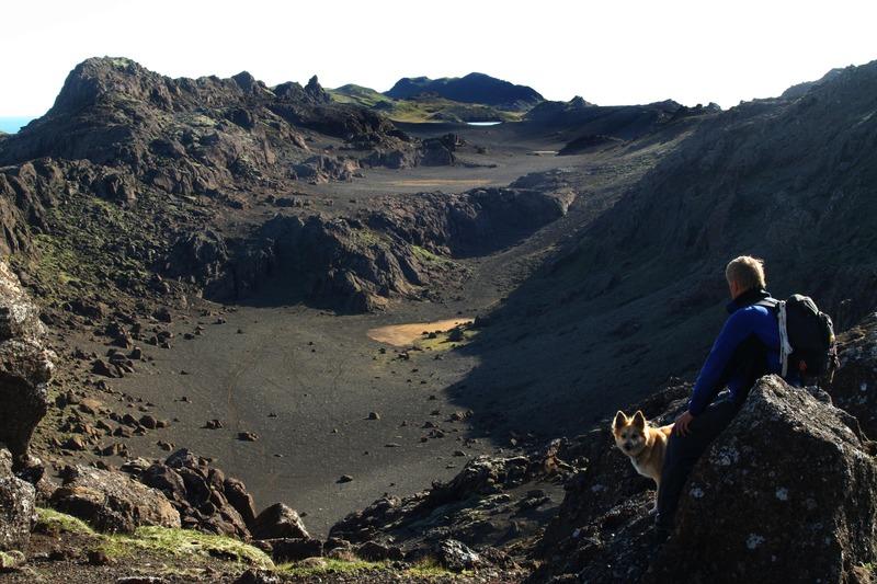 Stórbrotið landslag á Reykjanesskaga