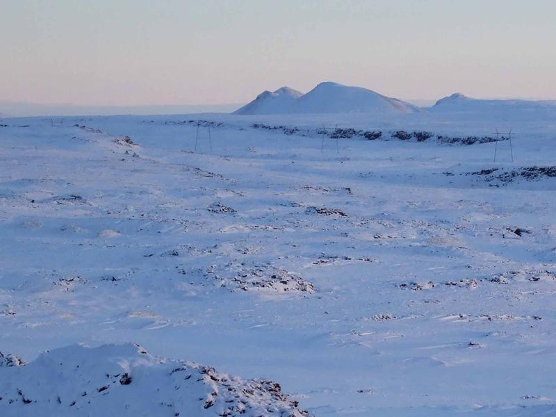 Haugsvörðugjá og Haugur - Þórðarfell fjær