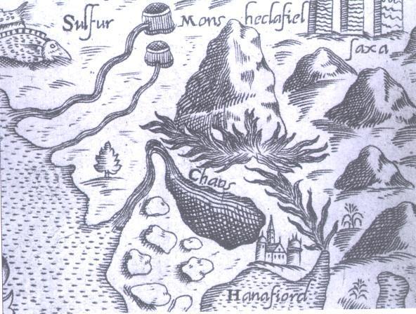 Hluti af korti Bertellis 1570 - Hafnarfjörður