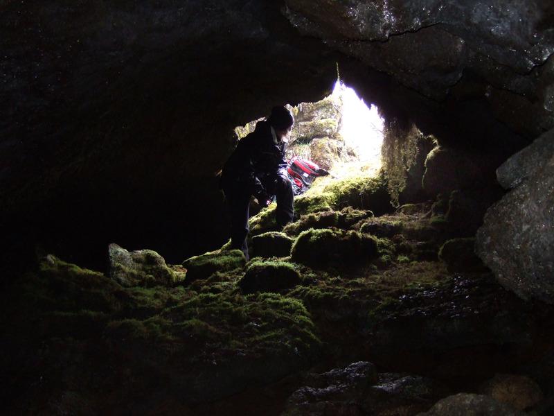 Í gamla Þingvallahelli