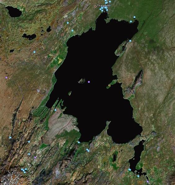 Þingvallavatn og úrennsli þess um Sog
