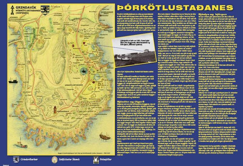 Örnefna- og sögukort á Þórkötlustaðanesi