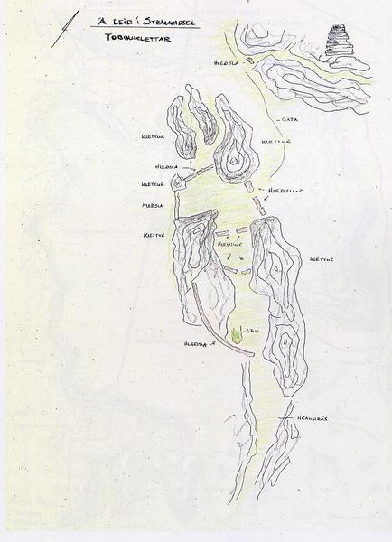 Grenigjár - minjar. FERLIR gefur gert fjölmarga uppdrætti af minjasvæðum á Reykjanesskaganum